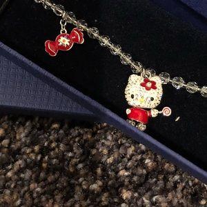Swarovski Hello Kitty lollipop bracelet